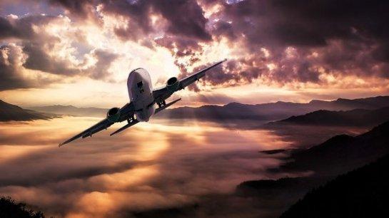 На борту самолета стюард разбил об голову дебошира две бутылки вина
