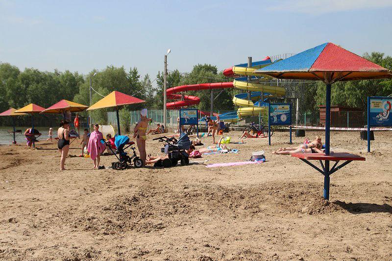 На омских пляжах не произошло ни одного несчастного случая