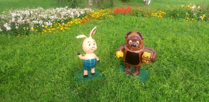 В Омске появилась аллея со сказочными героями