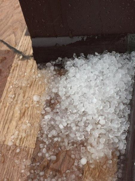 На Омск обрушился дождь с градом (фото)