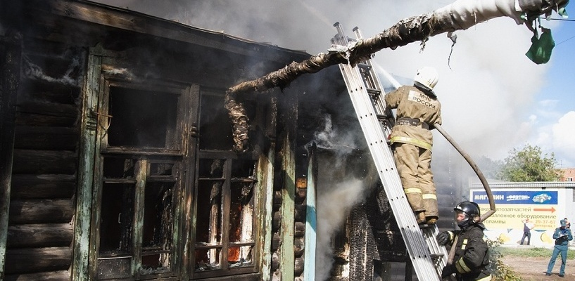 В Омске произошел пожар в центре саентологии