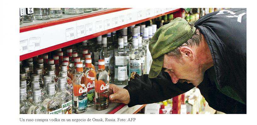 Фото жителя Омска среди бутылок водки «засветилось» в СМИ Чили
