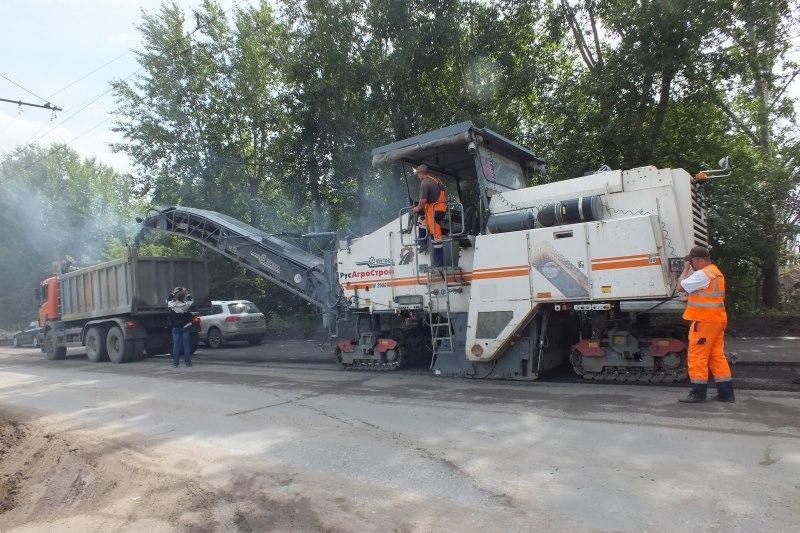 В Омске начали ремонтировать «хвост» проспекта Мира