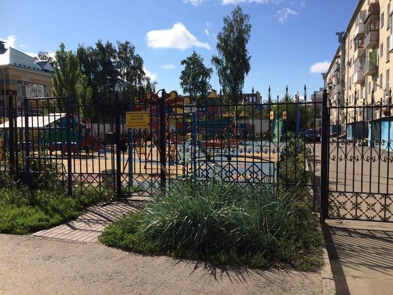 Детские площадки с улицы Валиханова предложили перенести в другое место