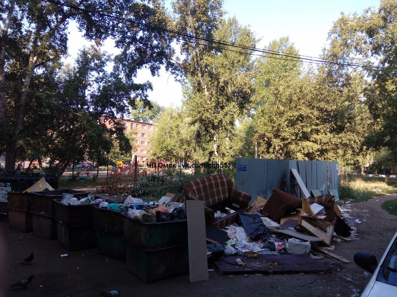 В Омске на улице Энтузиастов Обама снова замусорил двор