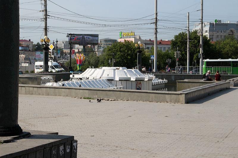 В День ВДВ в Омске не работает главный фонтан