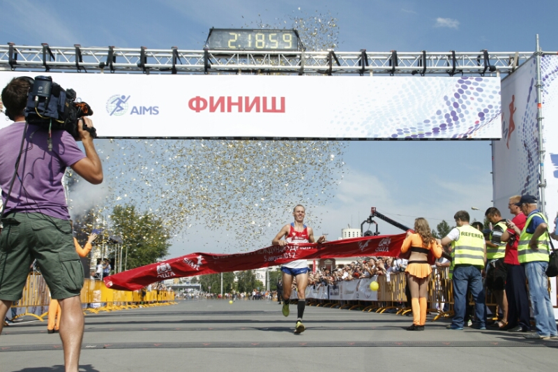 Победителем XXVIII Сибирского марафона стал краснодарец Андрей Лейман