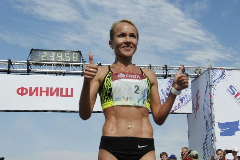 Победительницей Сибирского марафона среди женщин стала Ирина Юманова