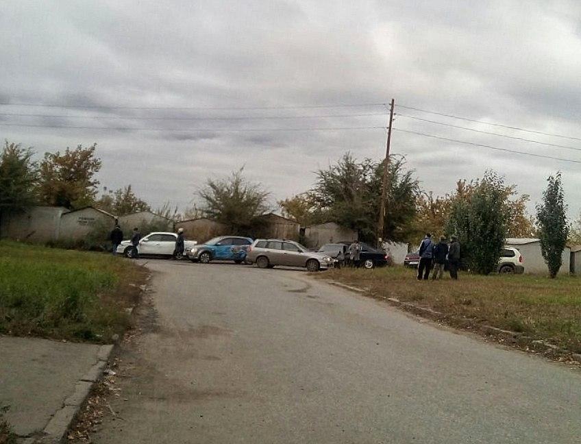 В Омске на Рокоссовского столкнулись три автомобиля