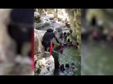 Опубликовано видео прыжка Буркова со скалы