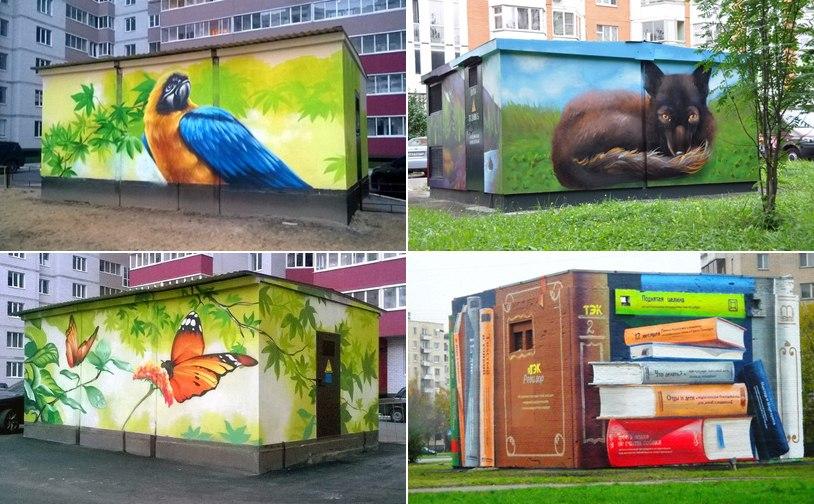 Омичи предложили украсить будку на Соборной площади портретом Дарвина или Вольтера