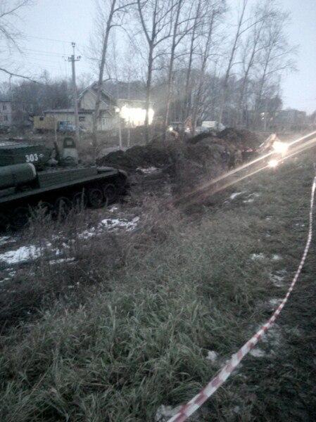 В Омском районе на помощь коммунальщикам прибыла военная техника